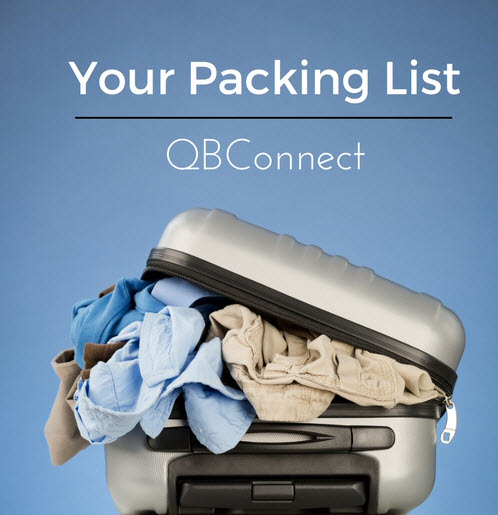 QB Connect Packing list