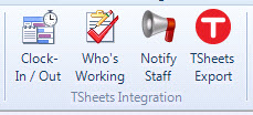 TSheets buttons